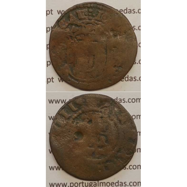 "REAL E MEIO - COBRE 1640-1656 (BC-) ""28mm"" IOANNES IIII D G REX PORTVGAL"
