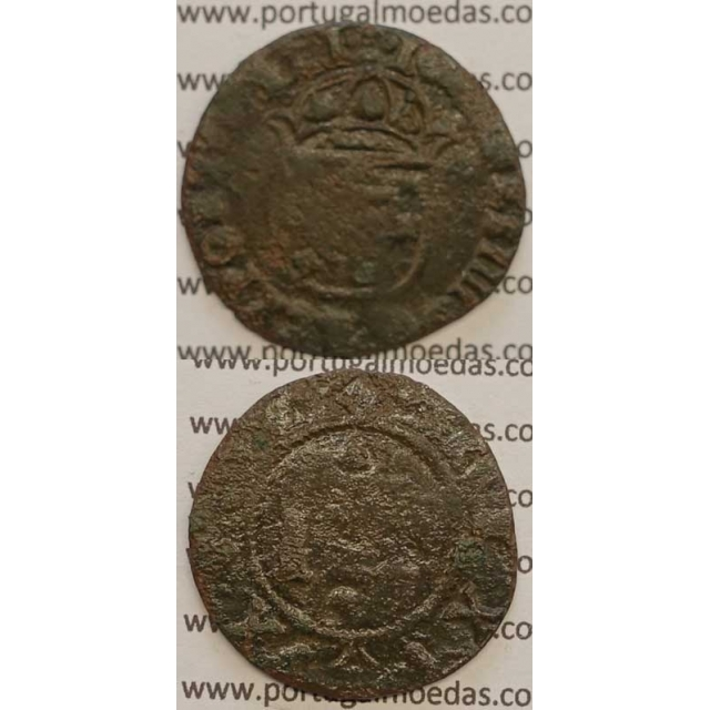 "REAL E MEIO - COBRE 1640-1656 (BC) ""26mm"" IOANNES IIII D G REX PORTVGALI"