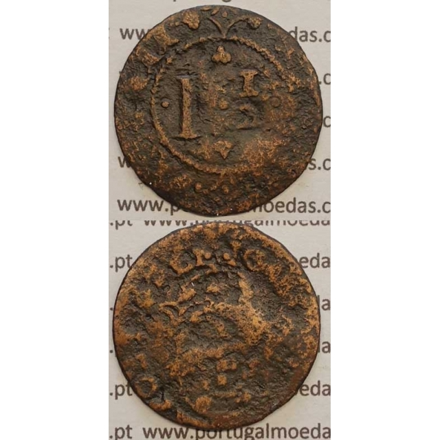 "REAL E MEIO - COBRE 1640-1656 (REG/BC-) ""26mm"" IOANNES IIII D G REX PORTVGALI"