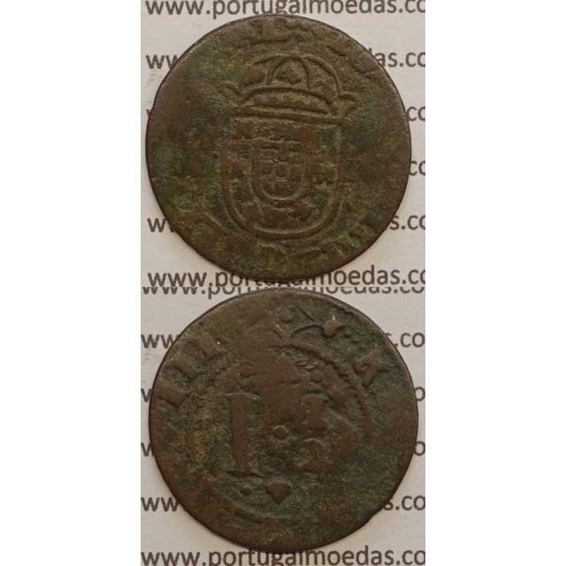 "REAL E MEIO - COBRE 1640-1656 (BC-) ""26mm"" IOANNES IIII D G REX PORTVGAL"