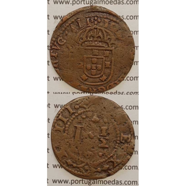 """REAL E MEIO COBRE 1640-1656 (BC+) """"30mm"""" VARIANTE NÃO CLASSIFICADA"""