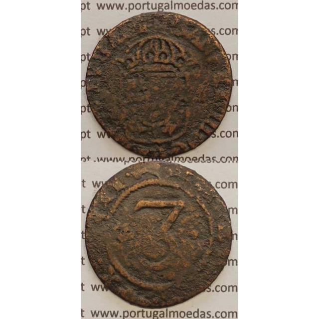 3 REIS - COBRE 1640-1656 (BC-) COROA PEROLADA ... REX PORTVGALI