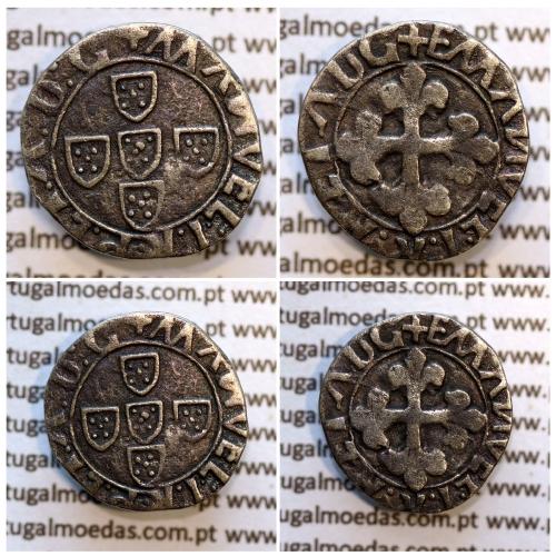 Meio Vintém Prata de D. Manuel I 1495-1521, (não classificada no A. Gomes) +MANVEL:I:R:P:ET:A:D:G / +EMANVEL:I:R P ET ADG