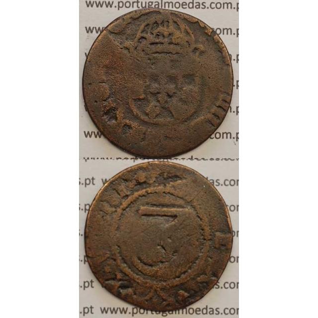 3 REIS - COBRE 1640-1656 (REG/BC-) COROA LISA IOANNES IIII D G REX PORTVGALI