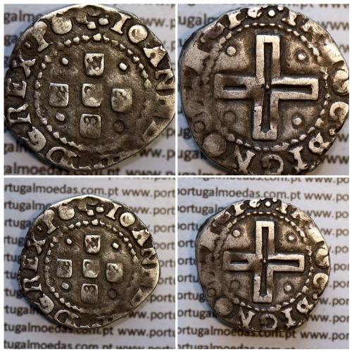 Meio Tostão prata D. João IV 1640-1656, não classificada A. Gomes, Legenda: ✤IOANNES IIII D G REX•PO / ✤IN HOC•SIGNO•VIN•CES