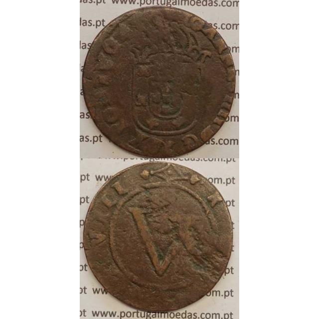 V RÉIS - COBRE 1640-1656 (BC) CAMPO LISO NO REVERSO