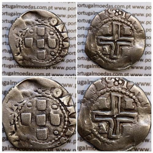 Meio Tostão prata D. João IV 1640-1656, (Évora), Legenda: ✤IOANNES IIII DG REX POR / ✤IN HOC SIGNO•VIN•CES