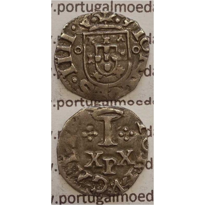 "VINTÉM - PRATA 1640-1656 (MBC) ""P"" PORTO / ""P"" ABAIXO DE ""XX"""