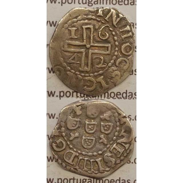 MEIO TOSTÃO PRATA 1642 (BC)
