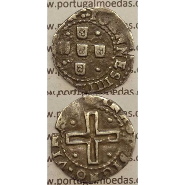 MEIO TOSTÃO - PRATA 1640-1656 (BC+) ...REX POR / SIGNOVINCES..
