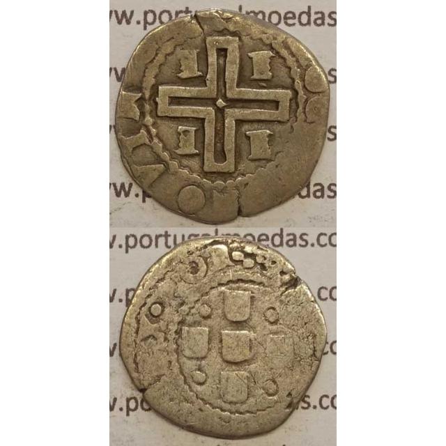 """MEIO TOSTÃO - PRATA 1640-1656 (BC+) ÉVORA """"EEEE"""" 2 P/ ESQUERDA + 2 P/DIREITA"""