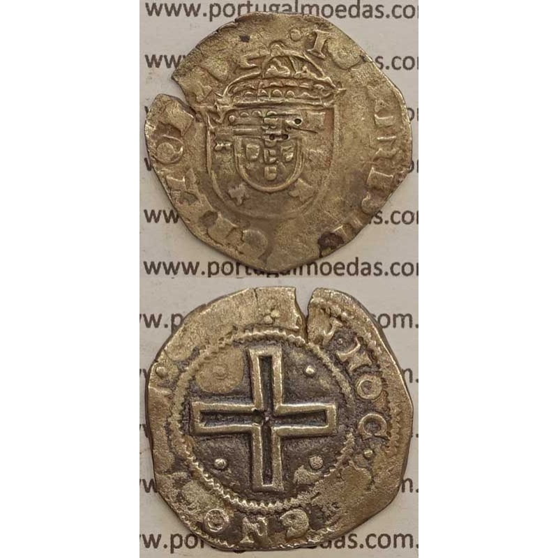 "TOSTÃO - PRATA 1640-1656 (MBC-) ""+IOANINES.IIII.DG.REX ORTV"" (NÃO CLASSIFICADA)"