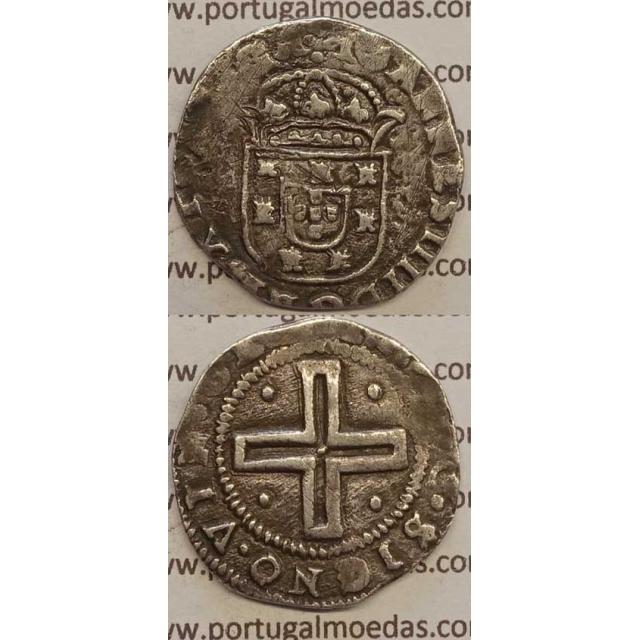 """TOSTÃO - PRATA 1640-1656 (MBC) COROA PEROLADA LEGENDA NÃO CLASSIFICADA """"PORTVGA"""""""
