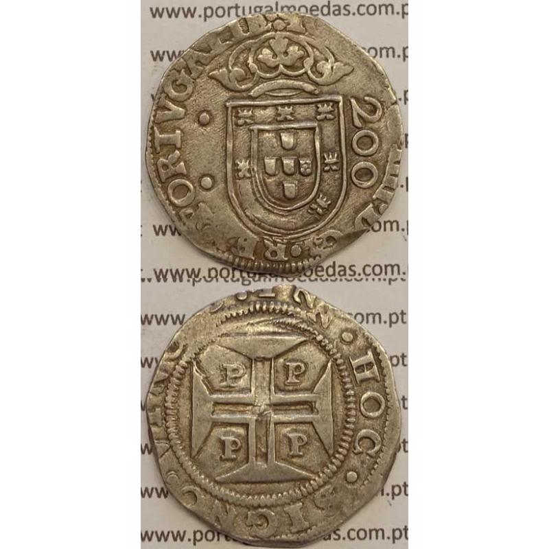"""MEIO CRUZADO - PRATA 1640-1656 (MBC+) """"PPPP"""" MENORES - PORTO"""
