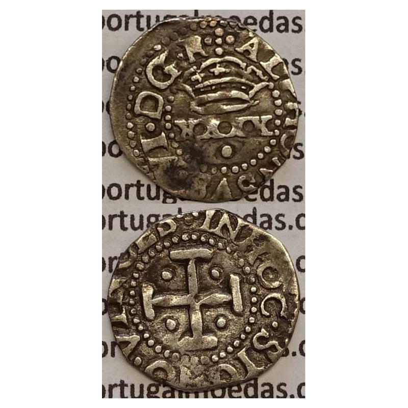 MOEDA 2 VINTÉNS PRATA 1656-1667 (MBC) - D. AFONSO VI