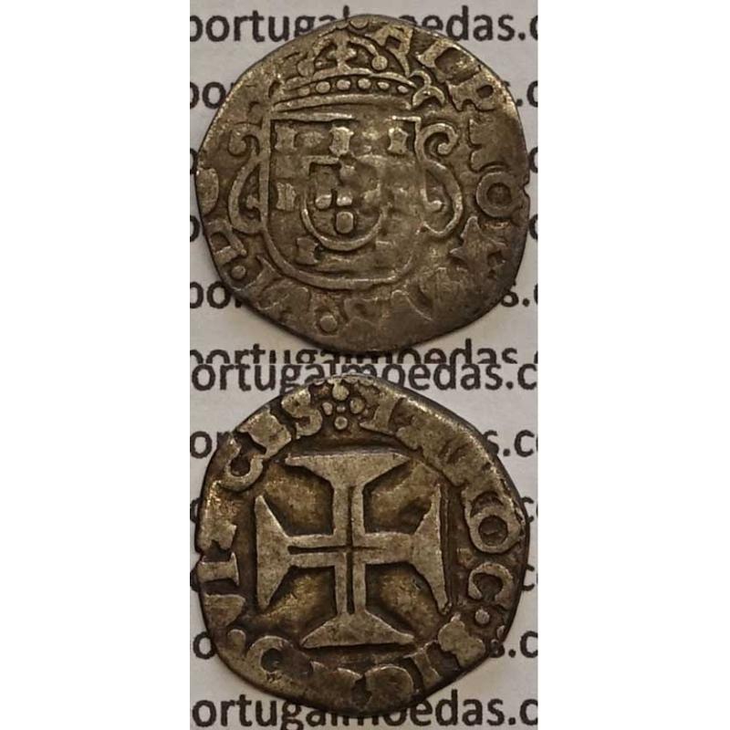 MOEDA MEIO TOSTÃO PRATA 1656-1667 (BC) - D. AFONSO VI