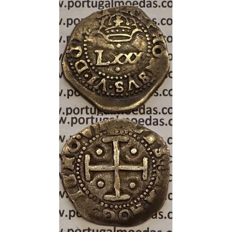 MOEDA 4 VINTENS PRATA 1656-1667 (BC+) - D. AFONSO VI