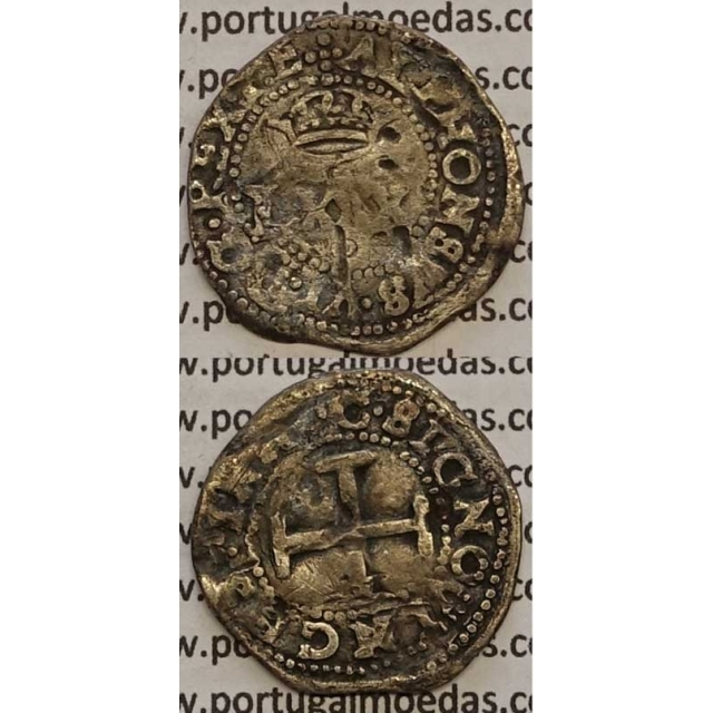 MOEDA 4 VINTENS PRATA 1656-1667 (REG) - D. AFONSO VI