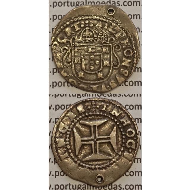 MOEDA TOSTÃO PRATA 1656-1667 (MBC-) - D. AFONSO VI