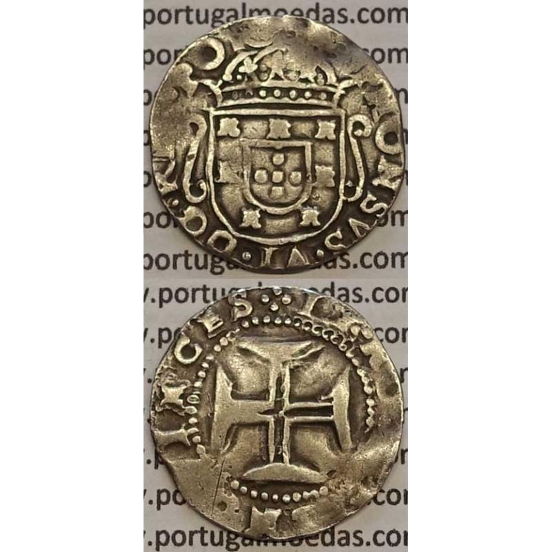 MOEDA TOSTÃO PRATA 1656-1667 (BC+) - D. AFONSO VI / VARIANTE COROA