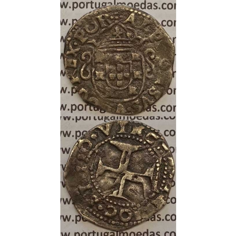 MOEDA TOSTÃO PRATA 1656-1667 (BC+) - D. AFONSO VI