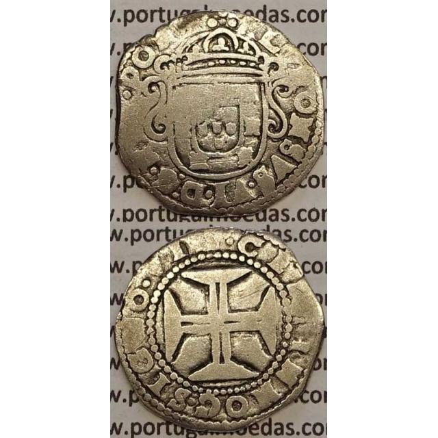 MOEDA TOSTÃO PRATA 1656-1667 (BC-) - D. AFONSO VI