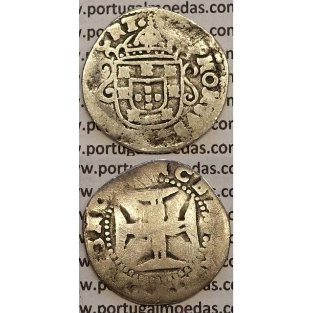 MOEDA TOSTÃO PRATA 1656-1667 (BC-/REG) - D. AFONSO VI