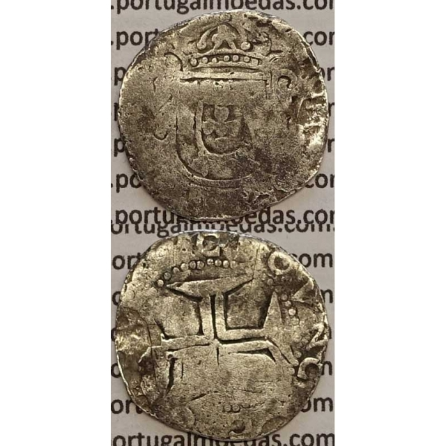 MOEDA TOSTÃO PRATA 1656-1667 (REG) - D. AFONSO VI