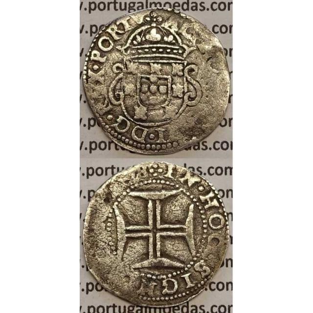 MOEDA TOSTÃO PRATA 1656-1667 (BC+/MBC-) - D. AFONSO VI - COROA DE PRÍNCIPE