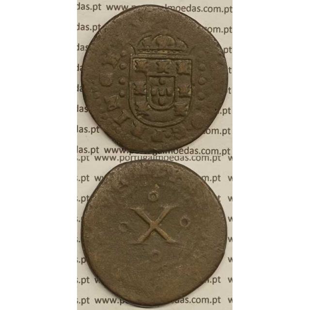 MOEDA DE X RÉIS - COBRE (1677) (REG) - D. PEDRO PRÍNCIPE REGENTE