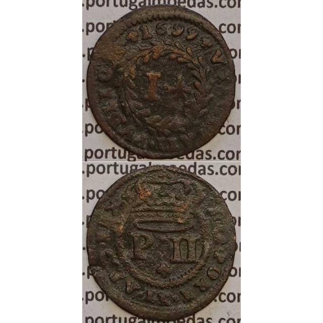 MOEDA REAL E MEIO COBRE 1699 (BC) - D.PEDRO II