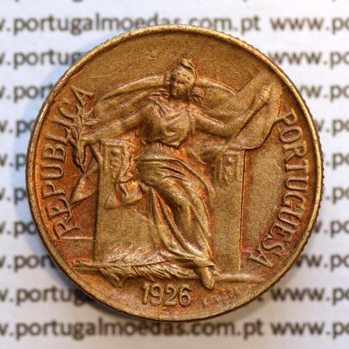 50 Centavos 1926 Bronze-Alumínio, $50 centavos 1926 Alumínio-Bronze Republica, (Bela/Soberba), World Coins Portugal  KM 575