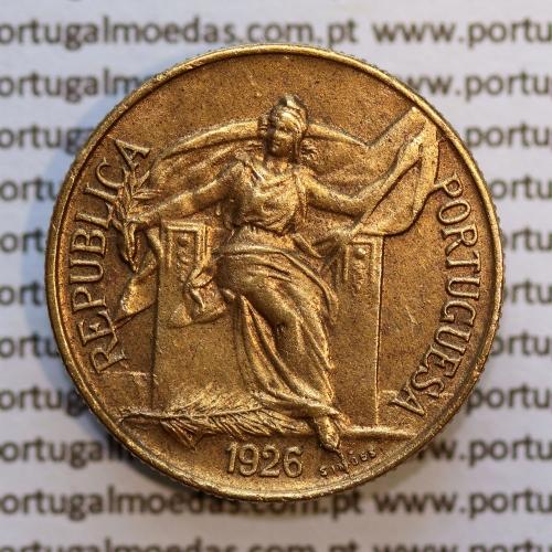 50 Centavos 1926 Bronze-Alumínio, $50 centavos 1926 Alumínio-Bronze Republica Portuguesa, (Bela), World Coins Portugal  KM 575