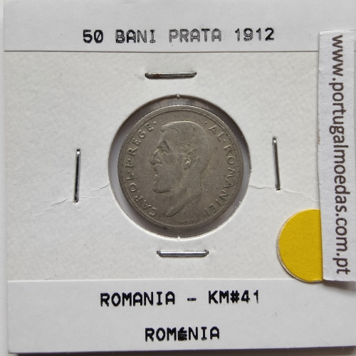 Roménia 50 Bani 1912 prata, World Coins Romania KM 41, coin of 50 bani 1912 Silver