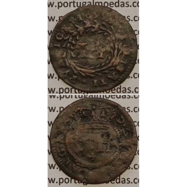 MOEDA DE REAL E MEIO COBRE 1699 (BC-) D. PEDRO II