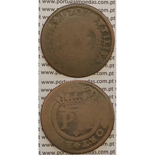 MOEDA X RÉIS COBRE 1703 (REG) - D.PEDRO II