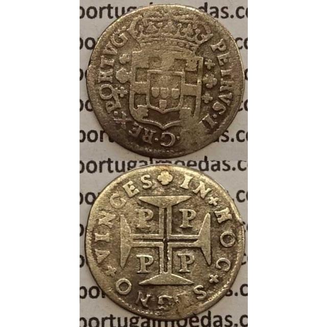 MOEDA 3 VINTÉNS PRATA 1683-1706 (BC) - D.PEDRO II