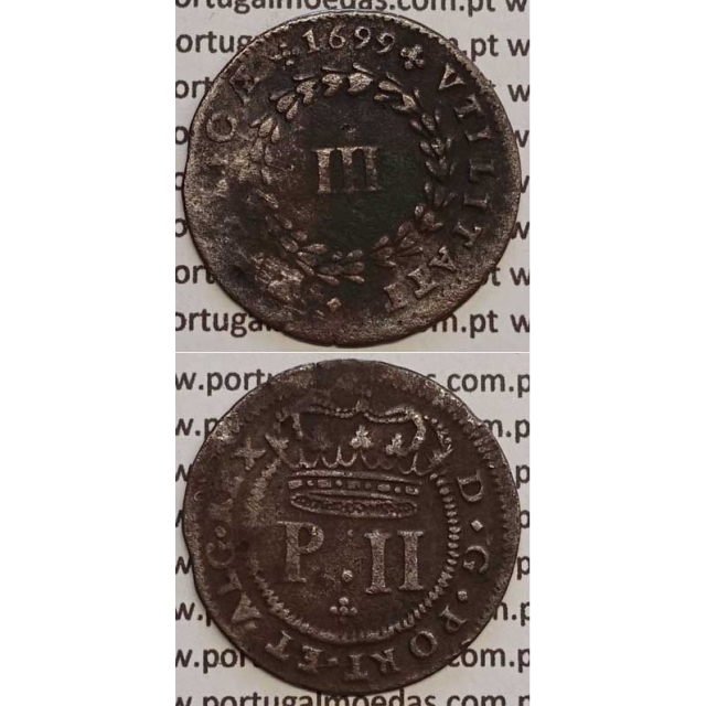 MOEDA III REIS COBRE 1699 (MBC+) - D. PEDRO II