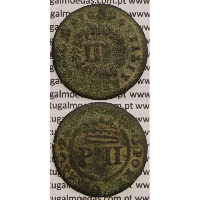MOEDA III REIS COBRE 1699 (BC-) - D. PEDRO II