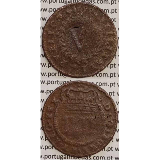 MOEDA V REIS COBRE 1699 (BC) - D.PEDRO II