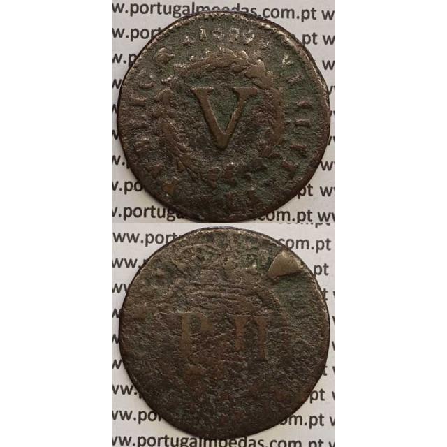 MOEDA V REIS COBRE 1699 (BC-) - D.PEDRO II