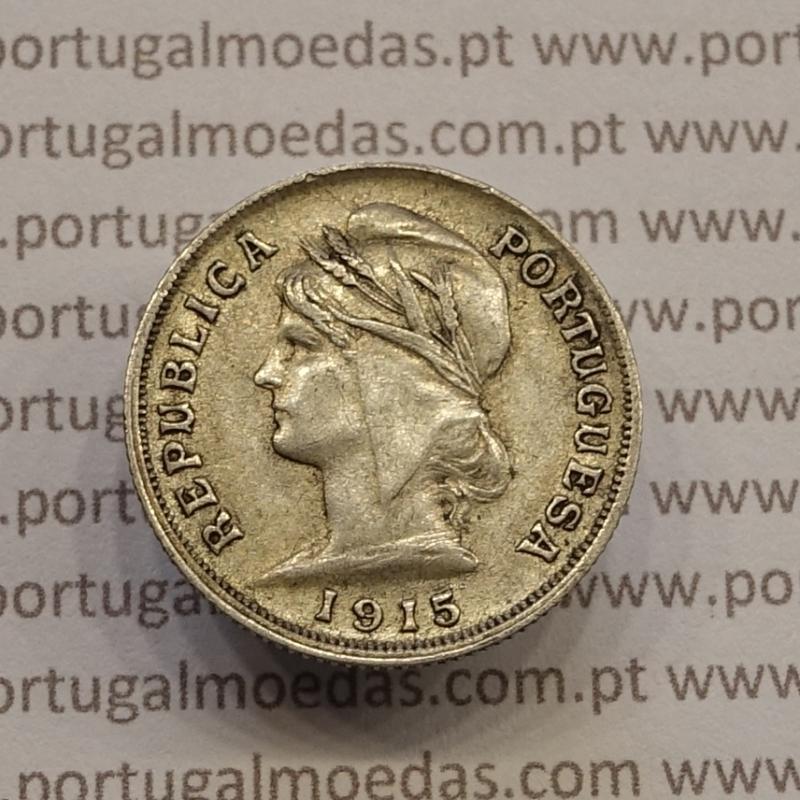 MOEDA DE DEZ CENTAVOS (10 CENTAVOS) PRATA 1915 MBC+