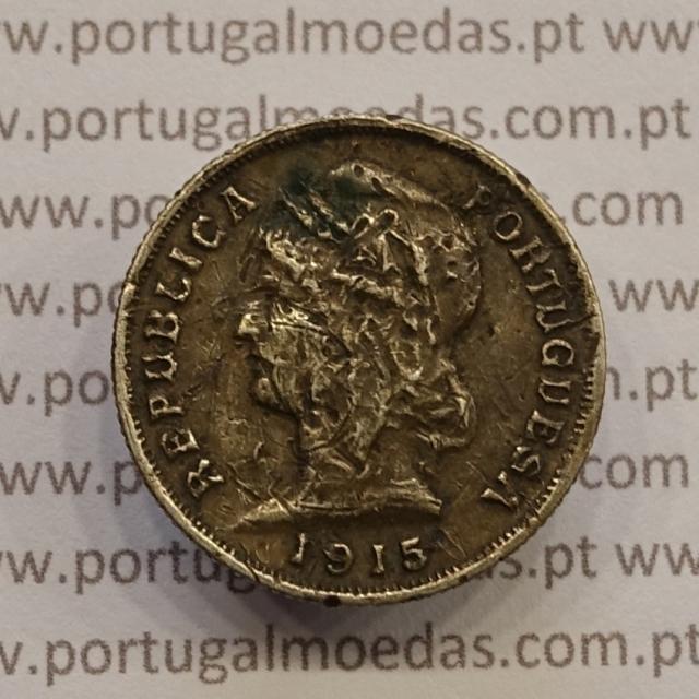 MOEDA DE DEZ CENTAVOS (10 CENTAVOS) PRATA 1915 BC-/REG