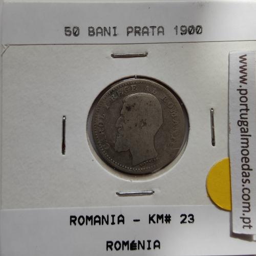 Roménia 50 Bani 1900 prata, World Coins Romania KM 23, coin of 50 bani 1900 Silver
