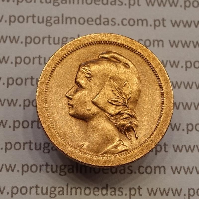 """10 centavos 1924 Bronze, """"$10"""" dez centavos 1924 bronze"""" - World Coins Portugal  KM 573"""