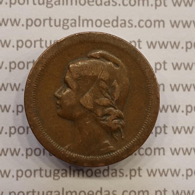 MOEDA DE DEZ CENTAVOS (10 CENTAVOS) BRONZE 1924 MBC