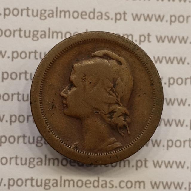 MOEDA DE DEZ CENTAVOS (10 CENTAVOS) BRONZE 1925 BC
