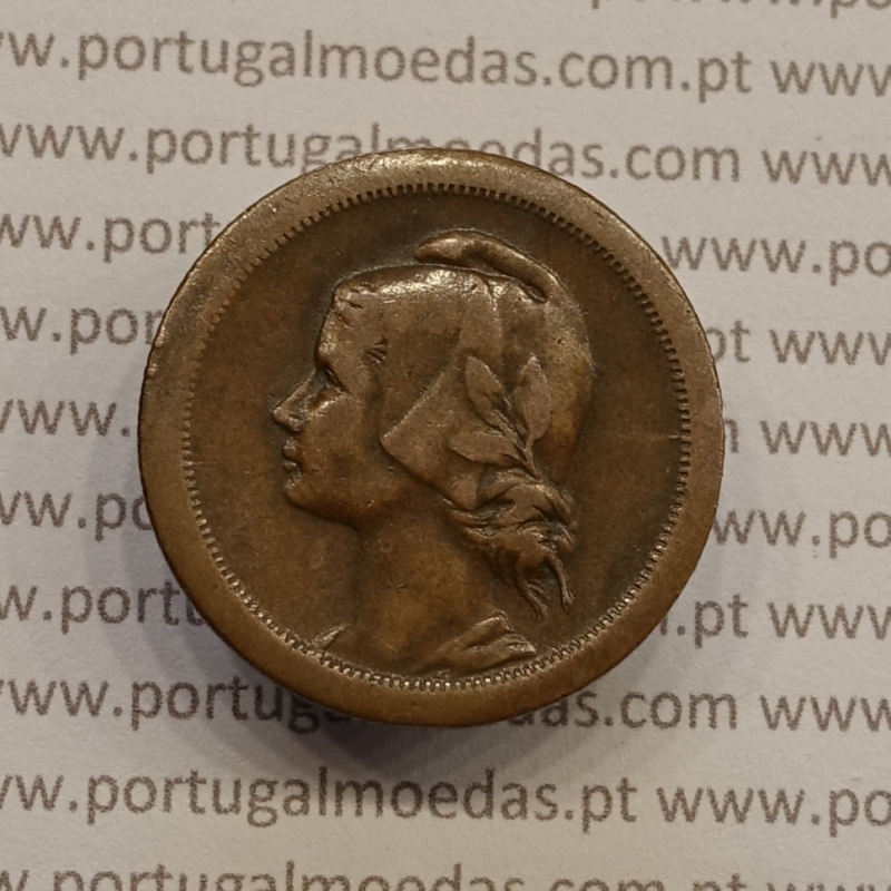 MOEDA DE DEZ CENTAVOS (10 CENTAVOS) BRONZE 1926 MBC