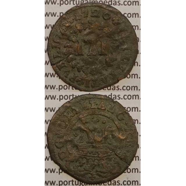 MOEDA III RÉIS COBRE 1720 (BC) - D.JOÃO V
