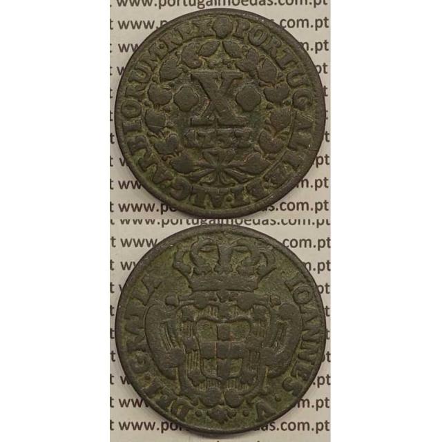 MOEDA X RÉIS COBRE 1737 (BC) - D.JOÃO V